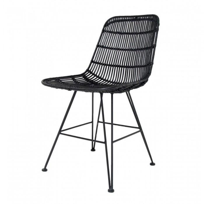 fauteuil rotin noir - Chaise Rotin Noir
