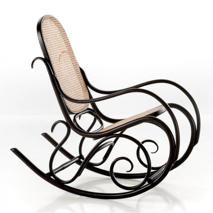 SCHAUKELSTUHL rocking chair black