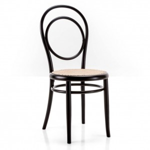 Chaise N14 Assise En Paille Dos Rond
