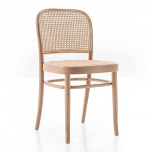 Chaise N.811 assise/dossier en paille