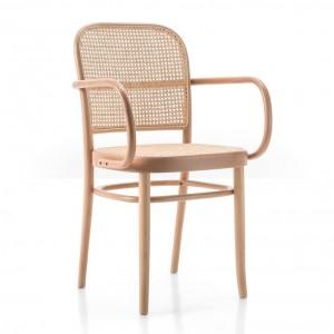 N.811 armchair woven cane seat/backrest