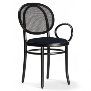 N.0 chair technical netting backrest with an armrest