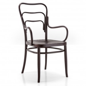 VIENNA 144 armchair with plywood seat