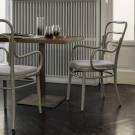 VIENNA 144 armchair with woven cane seat