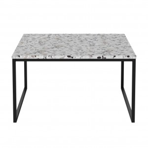 Table basse COMO Terazzo pieds noirs 60 x 60