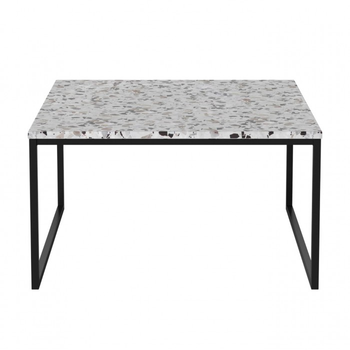 Table basse COMO Terazzo pieds noirs 60 x 60 - low