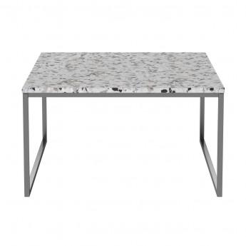 Table basse COMO Terazzo pieds acier 60 x 60 - low