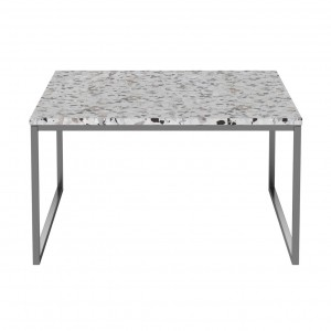 Coffee table COMO Terazzo 60 x 60 steel frame