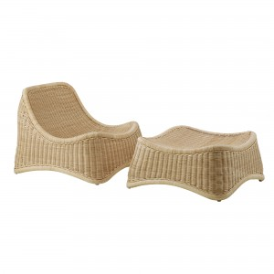 CHILL LOUNGE chair with stool