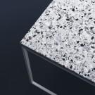 Coffee table COMO Terrazzo 120 x 60 white frame