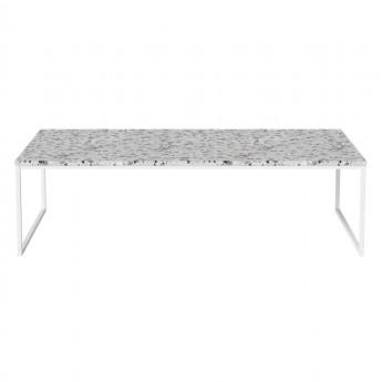 Table basse COMO Terrazzo 120 x 60 - pied blanc