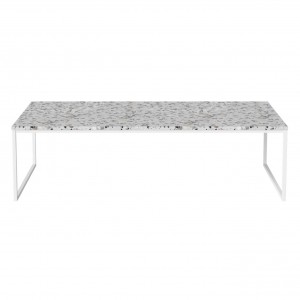 Coffee table COMO Terrazzo 120 x 60 white frame