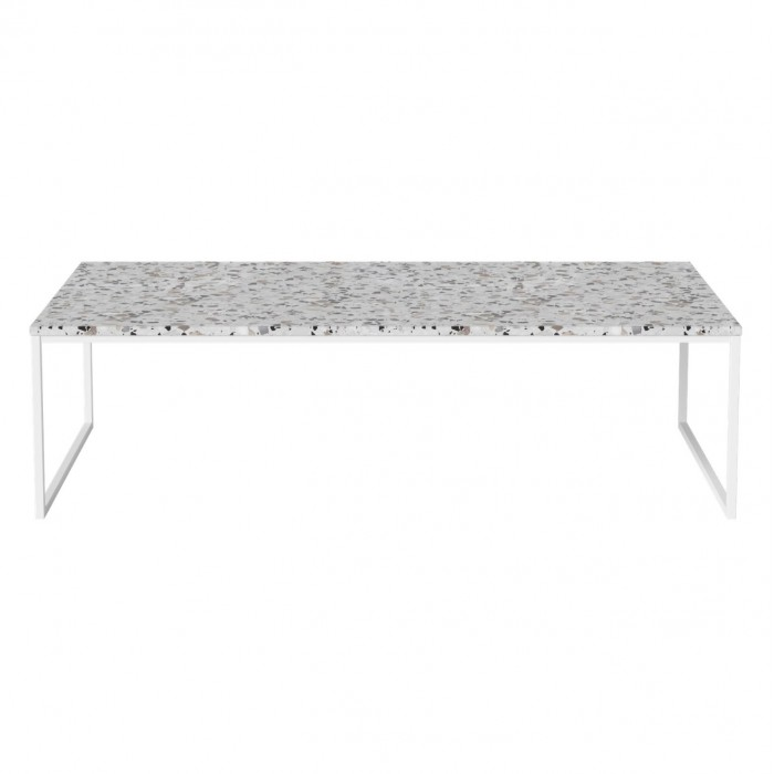 size 40 d9bbc f900c COMO Terrazzo Coffee table 120 x 60 with white frame - Bolia