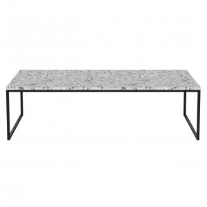 Coffee table COMO Terrazzo 120 x 60 black frame
