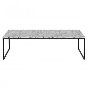 Coffee table COMO Terrazzo 120 x 60 black frame