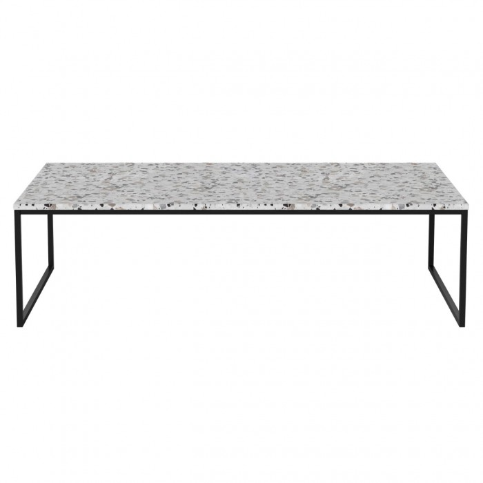 new concept 5f8ab d39e9 COMO Terrazzo Coffee table 120 x 60 with black frame - Bolia
