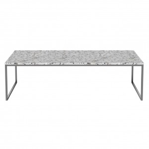 Coffee table COMO Terrazzo 120 x 60 steel frame