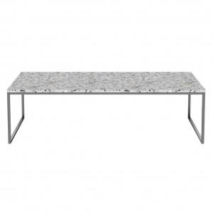 Coffee table COMO Terrazzo 120 x 60 steel frame
