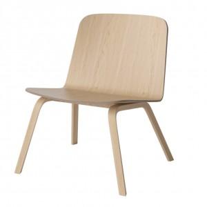 PALM armchair white oiled oak
