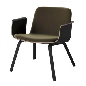 PALM armchair upholstered black stained oak