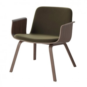 PALM armchair upholstered walnut