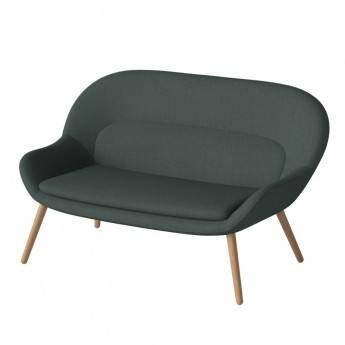 PHILIPPA sofa 2 seats NANTES/dark green