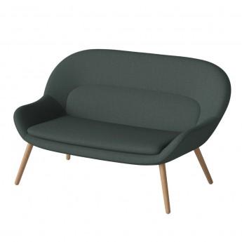 PHILIPPA sofa 2 seats NANTES/dark green