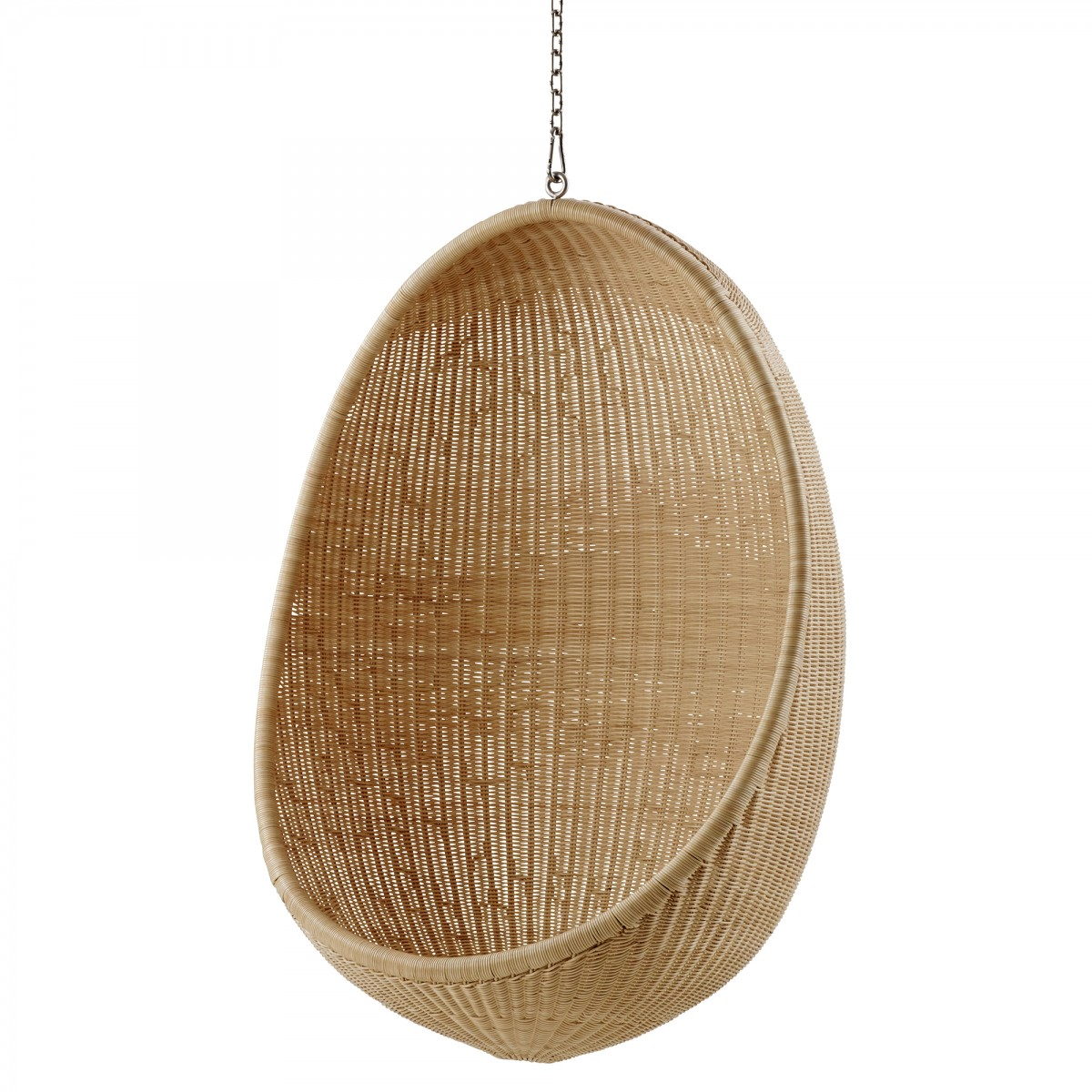 HANGING EGG natural armchair with chain - SIKA design