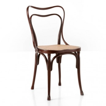 LOOS chair with woven cane seat