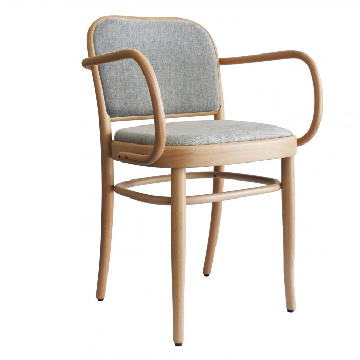 Chaise N.811 assise/dossier tapissés