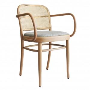 N.811 armchair woven cane backrest