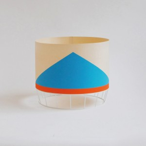 DOWOOD Lamp M blue/orange