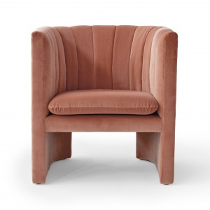 LOAFER armchair - Velvet rose
