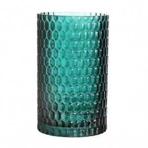 70's dark green vase