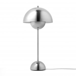 VP3 FLOWERPOT Table lamp Polished stainless steel