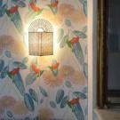 Lampe ARC vert et naturel S