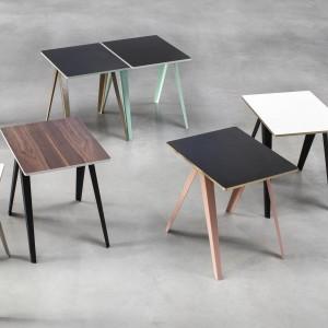 SANBA table black / turquoise