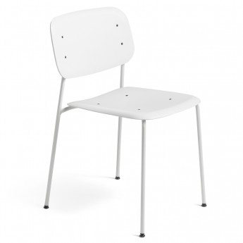 Chaise SOFT EDGE P10 blanc - base acier blanc