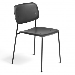 Chaise SOFT EDGE P10 noir - base acier noir