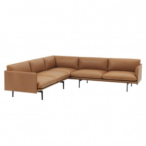 OUTLINE CORNER sofa - Cognac Leather
