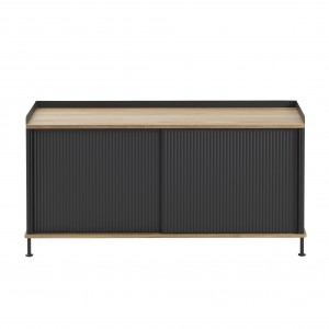 ENFOLD low Sideboard black/oak