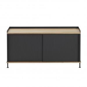 ENFOLD low Sideboard black/oak