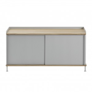 ENFOLD low Sideboard grey/oak