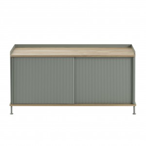 ENFOLD low Sideboard dusty green/oak