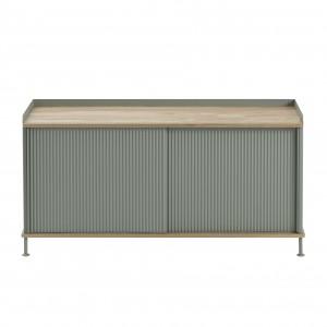 ENFOLD low Sideboard dusty green/oak