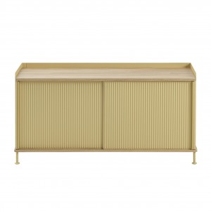 ENFOLD low Sideboard sand/oak