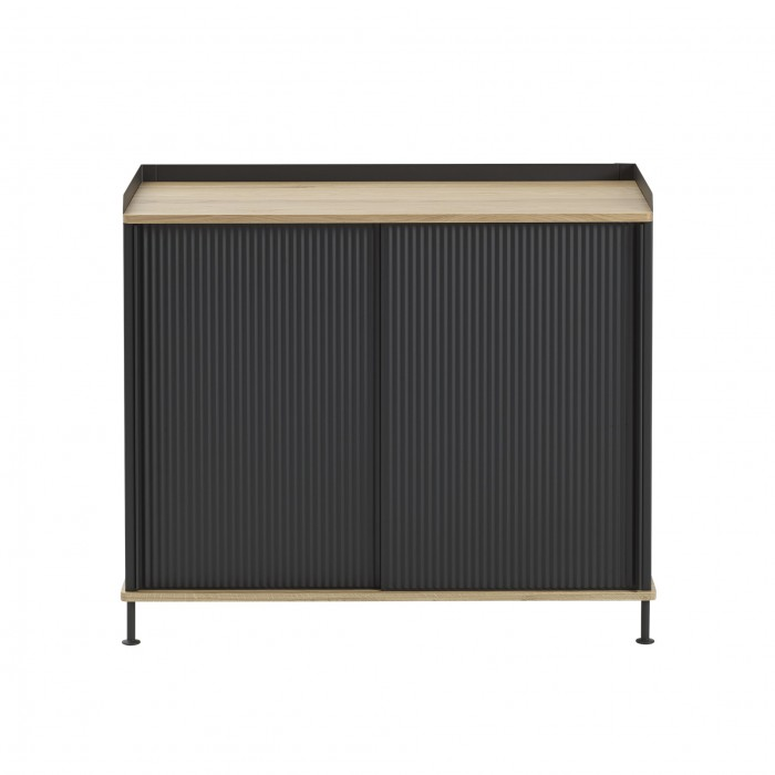 ENFOLD tall Sideboard black/oak
