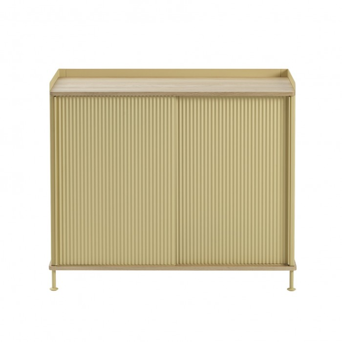 ENFOLD tall Sideboard sand/oak