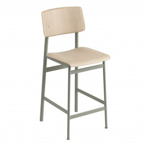 LOFT stool dusty green/oak