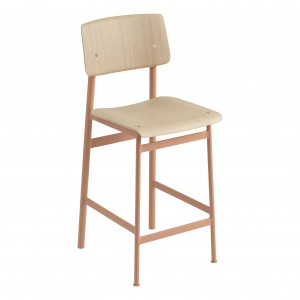 LOFT stool dusty pink/oak